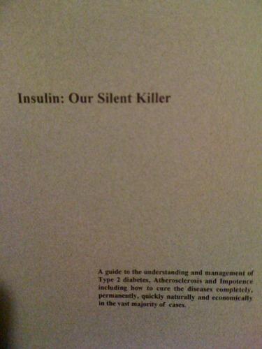 Insulin Our Silent Killer