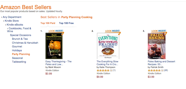 Easy Thanksgiving Book is a Number 1 Amazon Best Seller